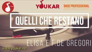 KARAOKE ELISA E F.DE GREGORI QUELLI CHE RESTANO