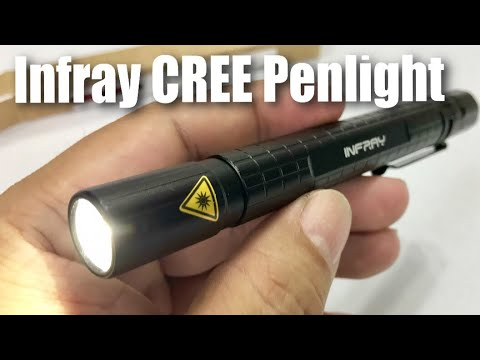 INFRAY LED Pocket-Sized Pen Light Flashlight with Super Bright CREE XPE2 R4 Review