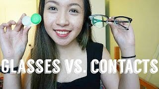 Contact Lens Vs. Glasses l Teenuhmay