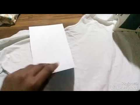 Ebay T shirt transfer paper Test