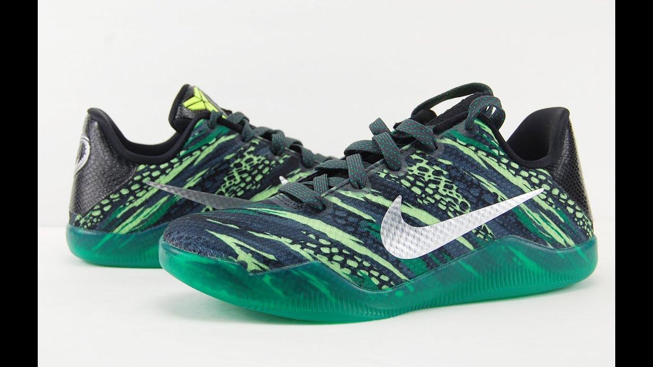 0e0ddbf839c Nike Kobe 11 Green Snake Review + On Feet - YouTube