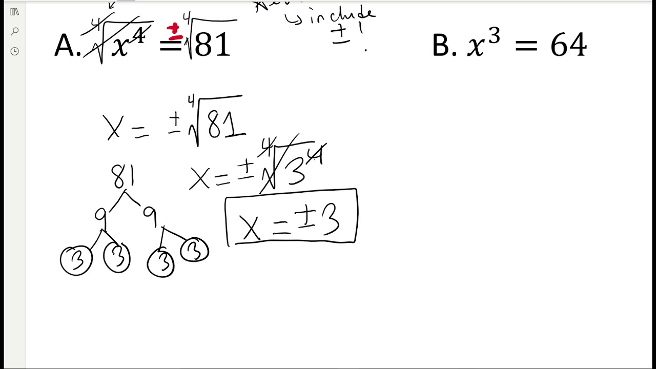 Algebra 2 Lesson 5.1: Nth Roots, Radicals, and Rational
