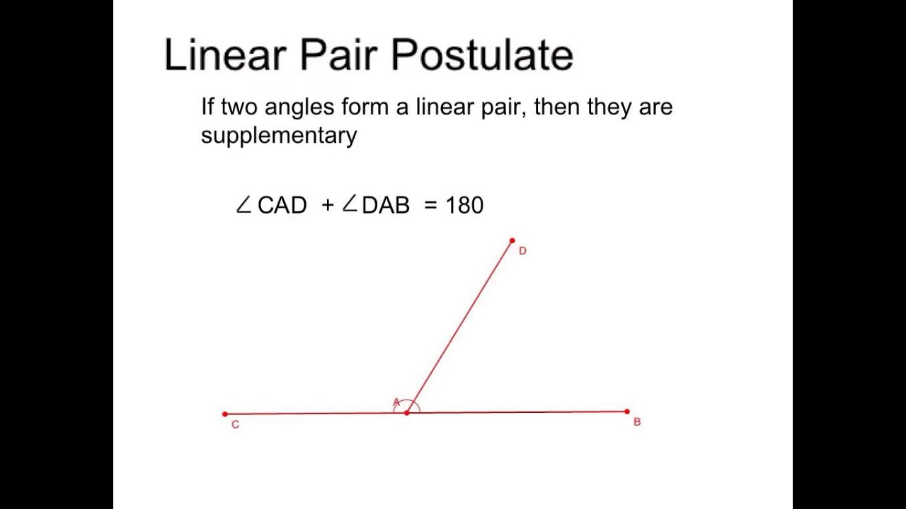 Angles, linear pairs, bisector - YouTube