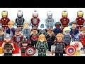Captain Marvel Iron Man Thor & Captain America Avengers Assemble Unofficial LEGO Minifigures