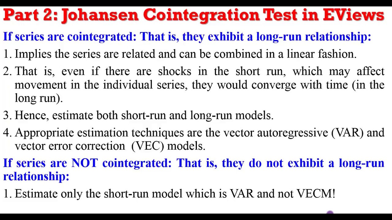 Cointegration