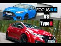 2016 Ford Focus RS vs 2016 Honda Civic Type R - Inside Lane