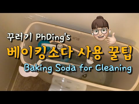 (eng) PhDing VLOG #7 / 베이킹소다 활용 꿀팁 / 베이킹소다 청소 / 변기 세정제 / 배수구 청소 / Baking soda for cleaning /미국박사브이로그