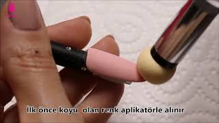 Pratik Ombre ( Renk Gradientli ) Protez Tırnak yapımı |Yeni aplikatör süngerli çubuk