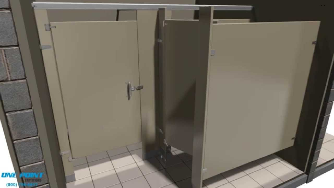 Toilet Partition Installation Powder Coated Steel Alcove YouTube - Steel bathroom partitions