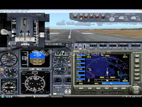 FS9/FS2004:Flight from Incheon to Jeju.