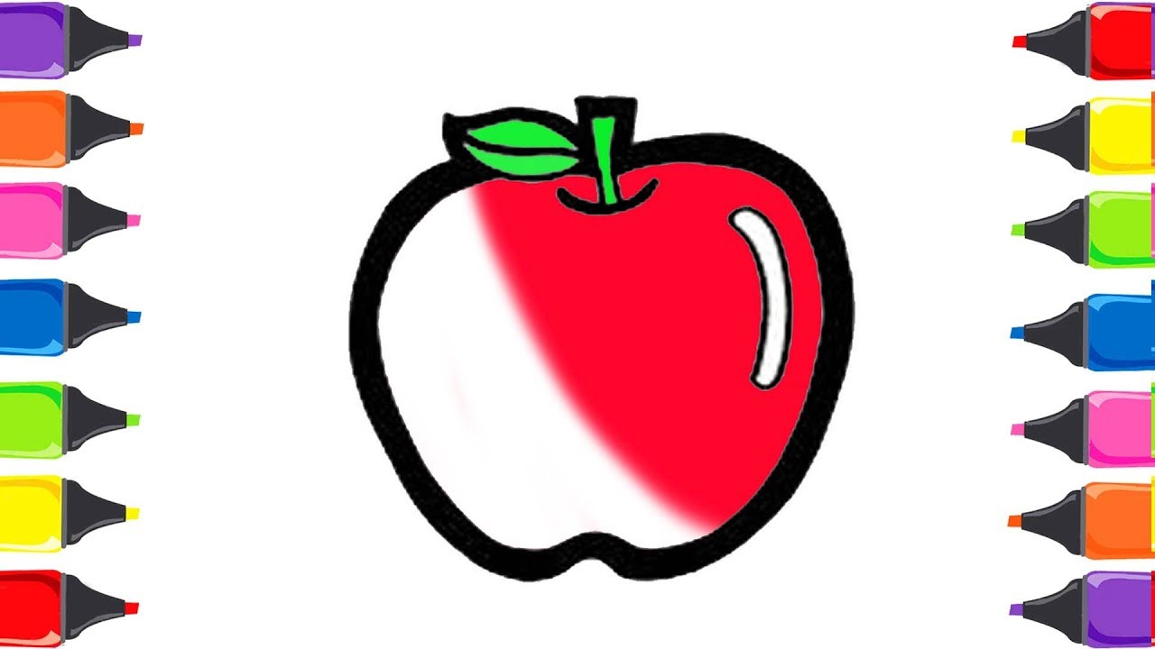 Elma Boyama Meyveleri öğreniyorum Meyveler şarkısı Renkleri