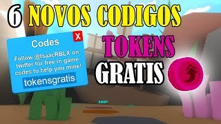 6 NEW FREE CODES IN MINING SIMULATOR (FREE TOKENS)-ROBLOX