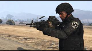 M249 Animated for GTA V PC.