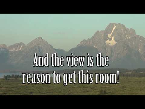 What does a Mountain View Lodge room at Jackson Lake Lodge look like?