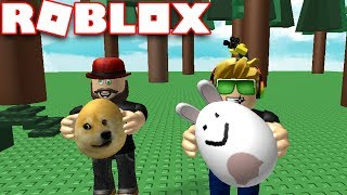LOOKING FOR EASTER EGGS in ROBLOX SCAVANGER HUNT