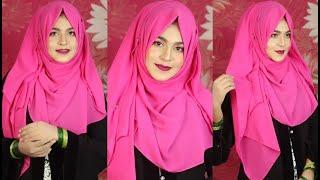 Chiffon Hijab Tutorial for Saree/Salwar | EP-5 (Chiffon Freak) | MUNA