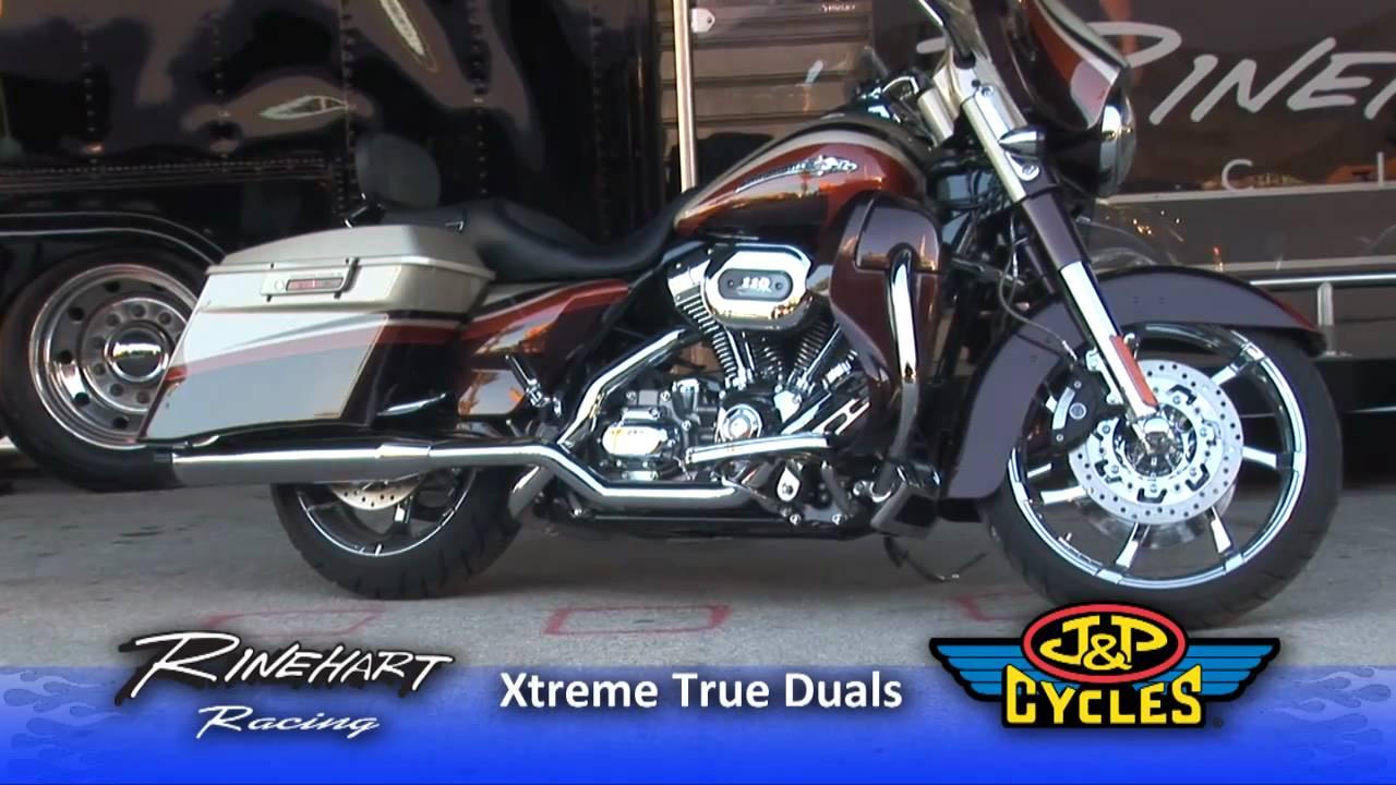 Free Flow Exhaust >> Rinehart Xtreme True Dual Exhaust Maximizes Exhaust Flow • JPCYCLES.COM - YouTube