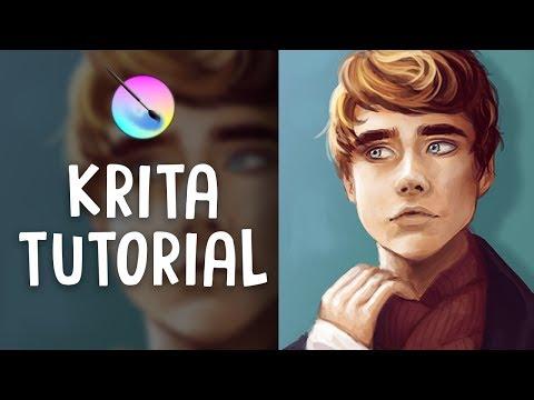 HOW TO PAINT IN KRITA | Digital Art Tutorial | Jenna Drawing