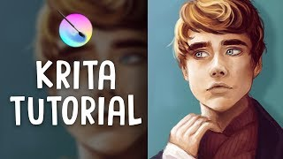 HOW TO PAINT IN KRITA | Digital Art Tutorial | Jenna Drawing