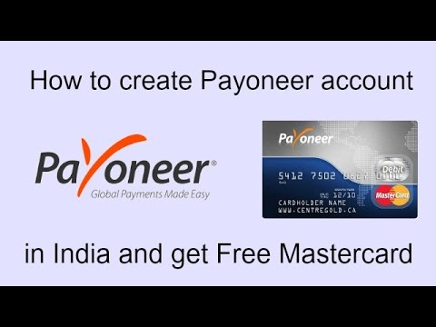 How to Create Payoneer Account and get Mastercard for Free