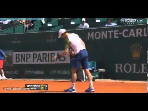 Andy Murray vs. Stanislas Wawrinka - ATP Masters Monte-Carlo 2013 - Highlights 18.04.2013
