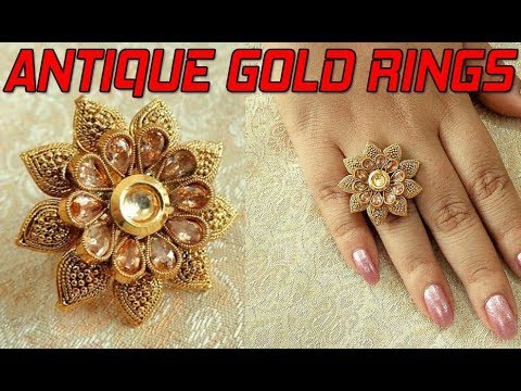 ROYAL &  ANTIQUE GOLD RING DESIGNS FOR WOMEN