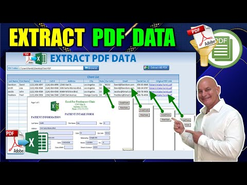 How to Extract Data From Unlimited PDF Forms To An Excel Table IN ONE CLICK
