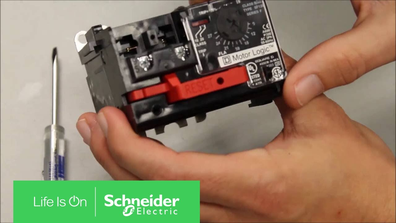 Manually Tripping A Motor Logic Solid State Overload Relay Fail Closed Schneider Electric Support