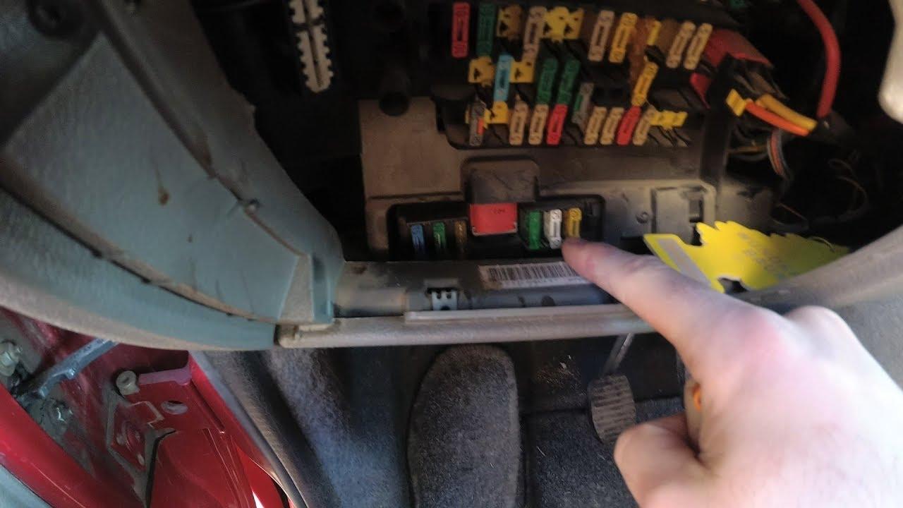 citroen c5 airbag wiring diagram light australia windshield wiper fuse location xsara picasso youtube