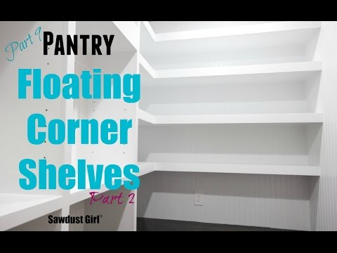 How to Build DIY L-Shaped Floating Shelves - (Part 2)