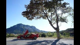 Lamborghini Countach Euro-trip part 1, inc tips on driving Route Napoleon N85