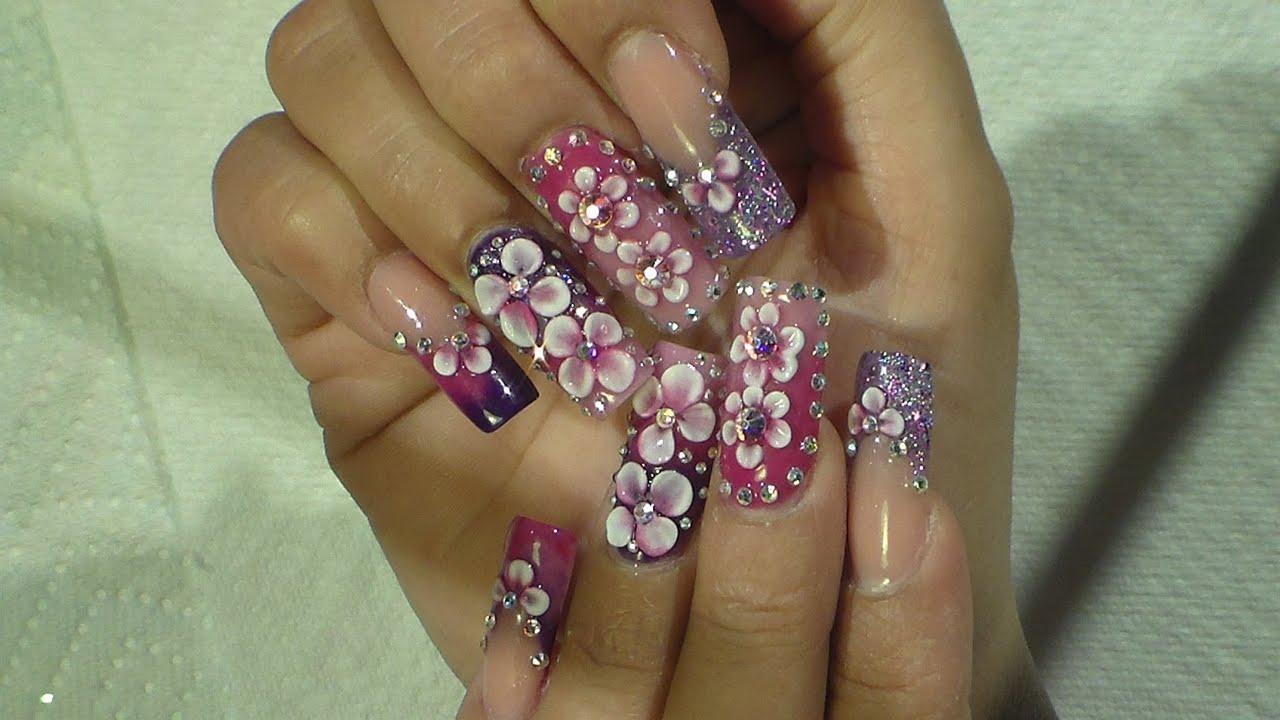 Purple Nails - Natos Nails - Uñas Acrilicas - Acrylic ...