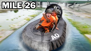 Hovercraft Across 26 Miles of LA River!
