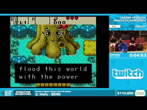 The Legend of Zelda: Oracle of Ages by Casusby in 1:59:43 - Awesome Games Done Quick 2016 - Part 13