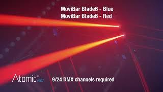 Video: Laser Atomic4dj Movibar Blade6 - Blue- 6 X 500mw
