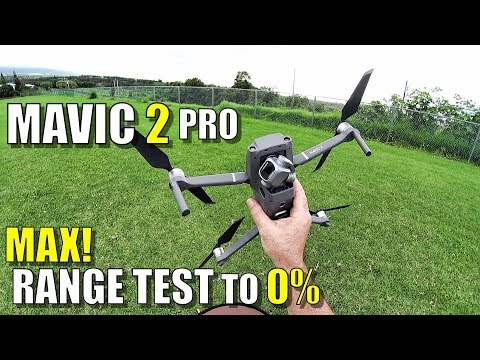 DJI Mavic 2 PRO MAXIMUM Range Test  How Far Until 0% Battery?