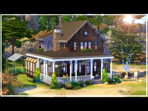 Off The Grid Family House || The Sims 4 Laundry Day - Speed Build