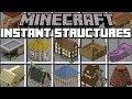 Minecraft INSTANT STRUCTURES MOD / BUILD A MINECRAFT VILLAGE IN SECONDS!! Minecraft