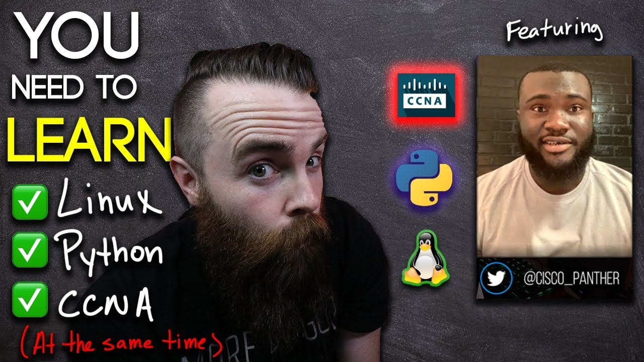WHY you need to study Python, Linux, CCNA 📚 AT THE SAME TIME! // ft   Cisco_Panther