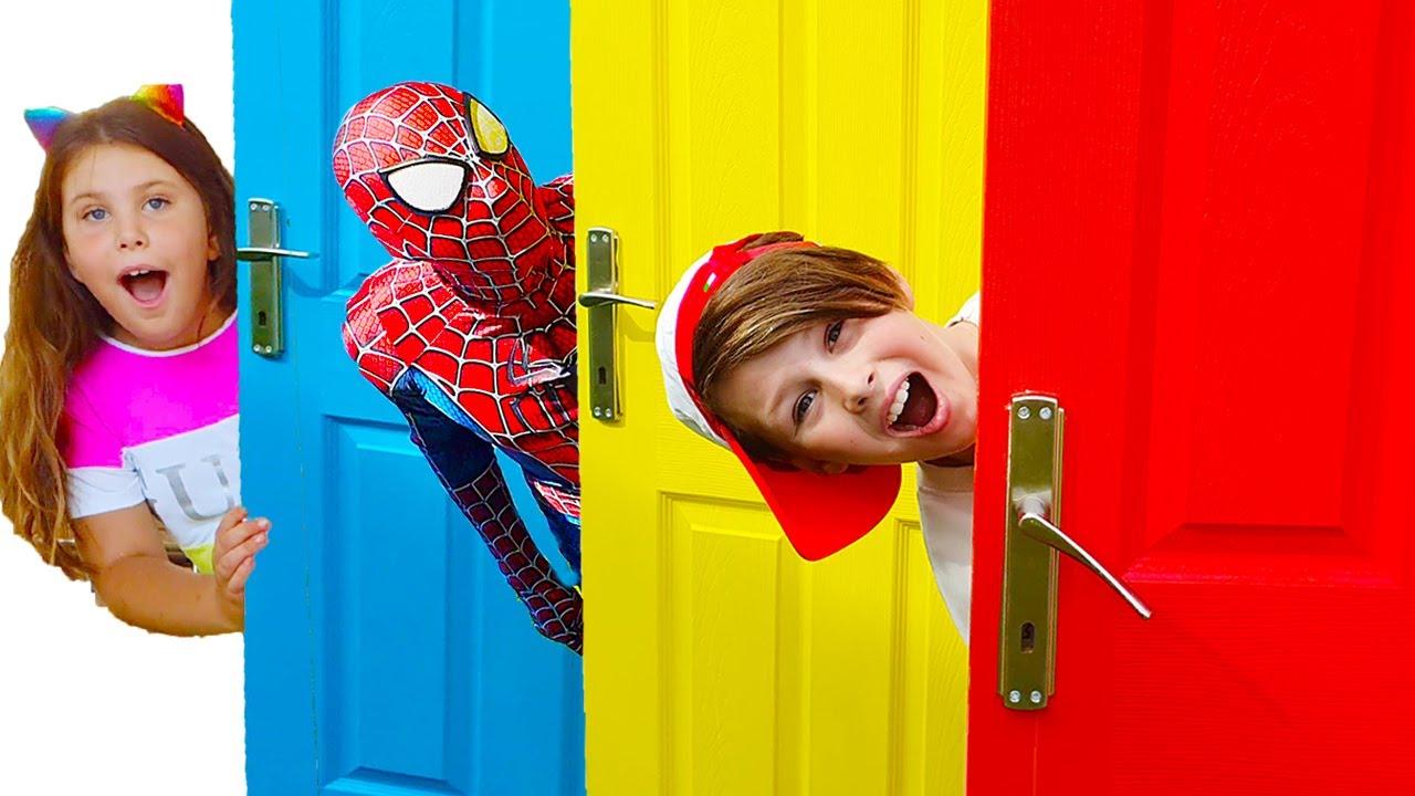 사탕과 초콜릿 아드리아나 재미있는 이야기 Adriana and magical door Super Hero  Collection of new stories for kids