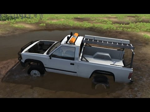 BeamNG.drive - Back in the Garage - Work Truck into Mud Truck Build