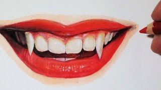 Comment dessiner une bouche de vampire [Tutoriel]