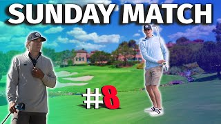 We Played A Very Exclusive Course In San Diego | Sunday Match #8 | MICAH VS GARRETT
