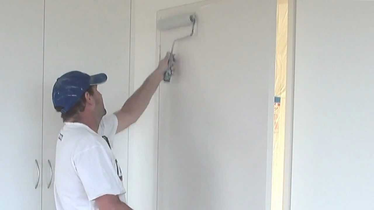 & Painting Doors - How To Paint Doors Using A Roller - YouTube