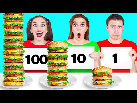 100 खाद्य परतें चुनौती #2 Multi DO Challenge