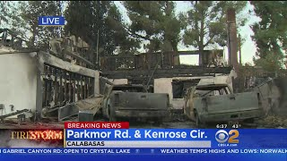 Smoldering Rubble All That's Left Of Several Malibu, Calabasas Homes