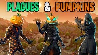 New Fortnite Skins! Plague Doctors & Pumpkin Heads! (Fortnite Battle Royale)