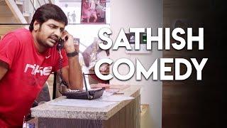 Tamil Short Scenes | Sigaram Thodu - Sathish Comedy | Vikram Prabhu, Sathyaraj