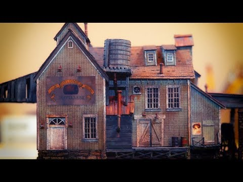 Master Creations Muldoon's Distillery Build In HO Scale