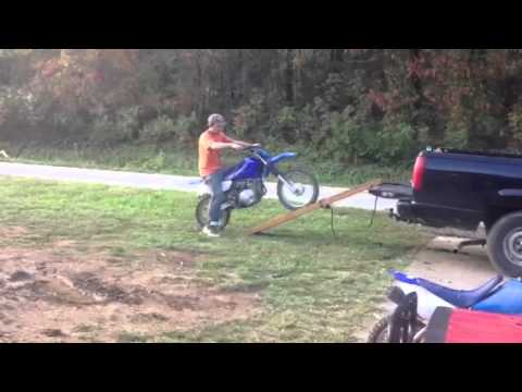 Dirt Bike Ramp >> Home Made Dirt Bike Ramps Youtube